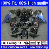Körperspritzgussform für Suzuki K7 GSXR 1000 CC 1000cc 07 08 Blue Flames Bodywork 27No.45 GSXR1000 GSX-R1000 2007 2008 GSXR1000CC GSXR-1000 2007-2008 OEM Fairing Kit