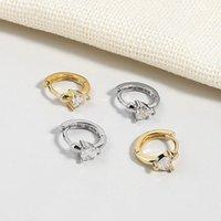 Hoop & Huggie KOFSAC Mini Earrings For Women Silver Color Jewelry Cute Romantic Heart Zircon Ear Earring Female Charm Party Accessories