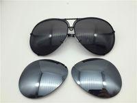 Carreras Sonnenbrille P8478 Ein Spiegel-Pilotrahmen mit extra Linsenaustauschauto Große Größe Männer Design Sunbrassq8am