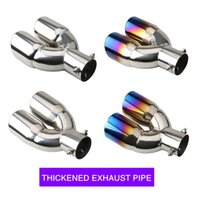 Manifold & Parts Car Styling Mufflers Exhaust Tail Throat Pipe Tip Universal Stainless Steel Multi-size Dual Outlet Auto Muffler Headers