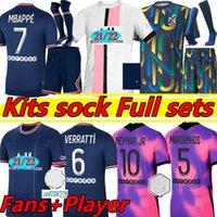 20 21 PSG camiseta de fútbol 2019 2020 2021 ICARDI camisa Paris Saint Germain NEYMAR JR MBAPPE soccer jerseys camisa Survetement futebol kit CHAMPIONS camisa de futebol