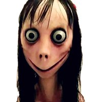 Игра Momo Girls Sterna Cosplay реквизит маски женщин мужчины испуганные женские призрачные шлемы маска Хэллоуин вечеринка причудливый шар косплей маска новый x0803