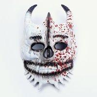 La maschera di scheletro della gocciolamento del sangue felice crea uno stile