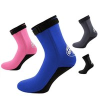 Wholesale 1 Pair 3mm Unisex Neoprene Diving Scubaing Surfing Snorkeling Swimming Socks Boots Outdoor Sports Accessories