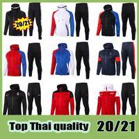 Paris Full Zip Sweat à capuche PSG AC milan Soccer Soccer Sweat Sweat Football Real Madird Tracksuit 2122 2021 Ensemble de formation 20 21 Kit de pantalon d'hiver