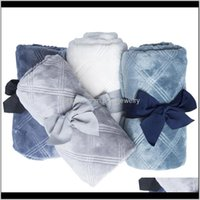 Swaddling Nursery Baby, & Maternity Drop Delivery 2021 Blankets Born 3D Flannel Swaddle Wrap Baby Boy Girl Solid Bedding Set Infant Stroller