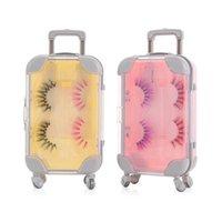 False Eyelashes 1PC Mini Trolley Luggage For Lovely Suitcase Lashes Decoration Plastic Miniature Toy Trunk Cute Eyelash Box