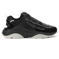 Scarpe da uomo Designer Bone Bone Black Shoes ispirate da scarpe da ginnastica sportive 35-46 Logo stampato metallico alla linguetta frontale Taglio a mano e cucito classico Skeleton Appliques