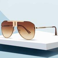 New European and American One Piece Sunglass Fashion Rimls Uomo TOAD Sunglass Versatile Shade Specchio