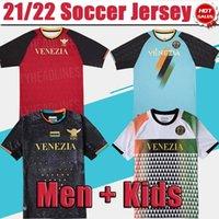 베네치아 축구 유니폼 21/22 # 10 Aramu # 9 포르테 베니스 홈 블랙 축구 유니폼 # 27 Busio # 7 Mazzocchi 멀리 흰 셔츠 2021/2022 남자 3 번째 성인 유니폼 4 red
