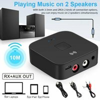 Car Video Bluetooth 5.0 RCA Audio Receiver APTX 3.5mm AUX Jack Music Wireless Adapter With NFC For TV Computer Speakers