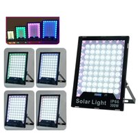 LED Solar Lights Outdoor Security Floodlight Atmosphere lamp IP65 Waterproof Auto-induction Flood Light for Lawn Garden Crestech