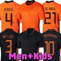 2021 Нидерланды Футбол Джерси Мемфис де Чунг Виргил Голландия 22 2 22 De Ligt Wijnaldum Propes Klaassen Van de Beek Strootman Мужская футбольная футболка для детей