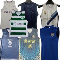 21 22 SCP Lisboa México América Boca Juniors Real Madrid Futebol Jerseys Aston Villa 2021 2022 Paris Monterrey Blue Football Camisa