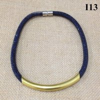 1pc collares / al por mayor regalo niña mujer collar de cristal cuentas de cristal con neta malla tubo cadena magnética bracelete chokers