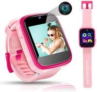 Дети Smart Watch Toddler HD Dual Camera Multi-Function TouchScreen детей SmartWatch с играми Развивающие игрушки отличные подарки на день рождения наручные часы для мальчиков и девочек