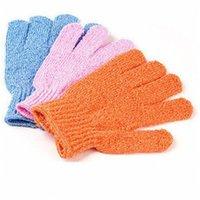 Exfoliating Bath Glove Body Scrubber Glove Nylon Guantes de ducha Cuerpo Spa Masaje Masaje Muerto Celular Cell Removedor 551 R2