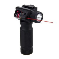 Quick Tactical Detachable Vertical Grip Aluminum Flashlight CREE LED Hunting Gun Light Integrated with Red Laser