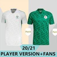 2021 Afrika Kupası Cezayir 7 Mahrez Futbol Forması Hayranları Oyuncu Sürümü 20/21 Ev Feghouli Brahimi BanaRi BoGedjah Maillots De Futbol Gömlek Atal Üniforma