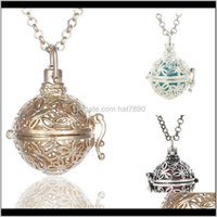 & Pendants Jewelryaromatherapy For Women Locket Necklace Aromatherapy Pendant Essential Oil Diffuser Necklaces 3 Colors Drop Delivery 2021 S