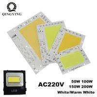 Ampoules AC220V LED COB 50W 100W 150W 200W Module de projecteur Plaque en aluminium Blanc / Chips chauds Smart IC Driver pour les lampes à projecteur