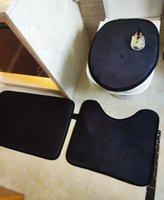 새로운 변기 좌석 커버 인쇄 목욕 매트 욕실 액세서리 3pcs 세트 받침대 깔개 + 뚜껑 화장실 커버 + 목욕 매트 욕실 세트 201