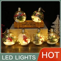 Christmas Party Crystal LED Lights Decoration Christma Spherical Ornaments Creative DIY Birthday Banquet Decorations Products Wholesale