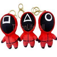 12cm 2022 Fidget Squid game squid game plush toy pendant doll key chain bag Pendant