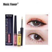 Música Flower Impermeable Líquido Láminado Líquido Láminado Llenador Pantalón Sombra de ojos Cosmético Colorido Glitter Eyeliner Maquillaje Belleza