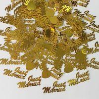 150 g de oro acaba de casarse amor corazón confeti boda fiesta de boda mesa espectacular compromiso matrimonio aniversario espolvorear decoraciones zhl1521