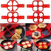 الخبز العفن سيليكون غير عصا بيضة رائعة pancake صانع الدائري المطبخ الخبز عجة الحرة قوالب الوجه طباخ البيض خاتم