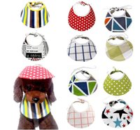 Dog Bandana Bibs Pet Neckerchief for Dogs Multifunctional Collapsible Hat Apparel Accessories Puppy Scarf GWA6362
