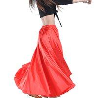 Wear Stage Brilhante Cetim Long Spanish Skirt Swing Dancing Belly Dance 14 cores disponíveis VL-310 HTKC
