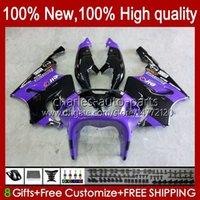 OEM púrpura negro nuevo cuerpo para Kawasaki Ninja ZX7R ZX750 1996 1997 1998 1999 2000 2001 2002 2003 Bodyworks 28HC.81 ZX 7 R ZX 750 ZX 7R ZX-750 ZX-7R 96 97 98 99 00 01 02 03 Carreyo