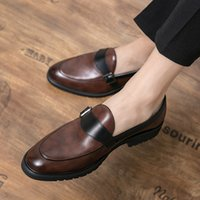 British Style Youth Spring and Autumn Small Leather Shoes Men Wear Large Casual Pointed Hairstylist Formal in Summer 2021