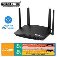 WiFi Routers Totolink A720R AC1200 WiFi Router 2.4 جيجا هرتز / 5 جيجا هرتز مكرر WIFI 4 * 5DBI هوائيات خارجية دعم IPTV