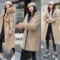Fitaylor Winter Jackets Women Warm Fleece Hooded Jackets-30 Grades Long Thick Parka Plus Size Big Bontkraag Snowwear