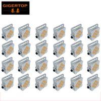 Tiptop 24xlot 9x18W 6in1 RGBAW UV Pil Kablosuz LED Düz Par Işık Tyanshine 6 Renk Lambası Amerikan DJ Disko Kulübü Odası Ekipmanları