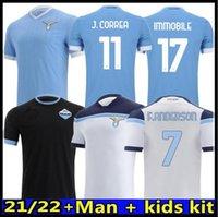 20 21 Lazio Soccer Jerseys 120th Inniversary 2020 2021 Maglie Immobile Luis Bastos Alberto Sergej Home Men Aids Kit Football Shirts