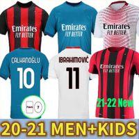 Ibrahimovic AC Milan 20 21 Maglia Da Calcio 2020 2021 Piatek Maglie Da Calcio Paqueta Theo Suso Rebic Camisa de Futebol Chandal Maglia UOMO + Bambini Kit 120 Anni