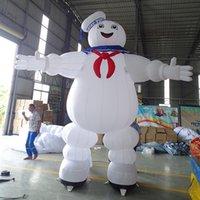 مخصص في الهواء الطلق العملاق هالوين التميمة نفخ البقاء puft، ghostbusters marshmallow man ghost master شخصية للبيع