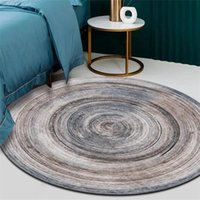 Carpets Brief Annual Ring Round Carpet Living Room Bedroom Bedside Dining Sofa Table Wood Grain Non-slip Rugs Chair Circle Mats Tapetes
