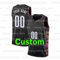2021 diseño personalizado de malla de malla de poliéster bricolaje jersey de baloncesto brooklyn camisetas deportes personalizado equipo cosido adulto Número de nombre de adulto Haga sus propios jerseys
