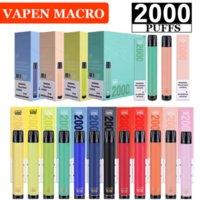 Authentic VAPEN Macro Cigarette 2000 Puffs Disposable Vape Pen Vertical Coils Plus XXL Xtra Extra Max Flex Vaporizer Prefilled Liquid Bars e Cigs Vaporizers