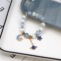 Bağlantı, Zincir Takı Bohemian Opal Çiçek Kristal Zarif Yıldız Ay Gezegen Çok Boncuklu Bilezik