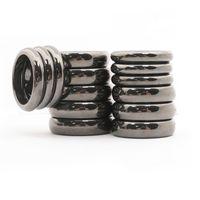 Anel de pedra preciosa anel de hematita magnético 6 mm 4mm