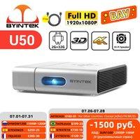 Byintek U50 Full HD 1080P WiFi Android Smart 2K 3D 4K TV Portable Laser Portable Portable LED DLP Proyector Proyector para Smartphone