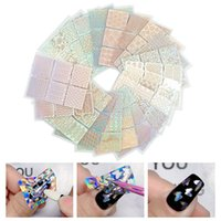 12 24PCS Hollow Out Stencil Nail Sticker Stamping Template Stylish Irregular Grid Self-adhesive Manicure 3D Christmas Decoration Stickers Decals