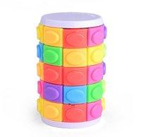 Estoque 3d girar corrediça quebra-cabeça torre cubos mágicos escorregando brinquedos cilindro educacional inteligência jogo mental para crianças crianças owa8690