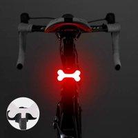 Bicycle Light Light Espigão LED Lâmpada 5 Modo Ósseo Forma Bicicleta Bicicleta USB Recarregável Titular Luzes